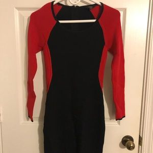 Red and Black Guess Dress